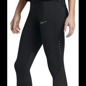 Nike Dri Fit Power Epic LUX black Tights Sz M